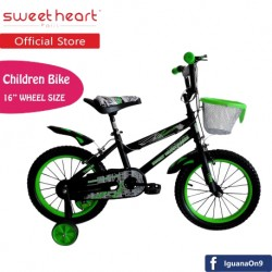 Sweet Heart Paris CB1601 TREX Children Bicycle (Black/Green)