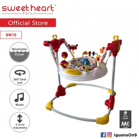 Sweet Heart Paris JUMJUM Activity Baby Jumpers BW10 with Seat Element 360 Degrees [Ocean White]