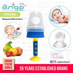 Korea Ange Premium Fruit Feeder with Soft Sensory BPA-Free Silicone Net\''
