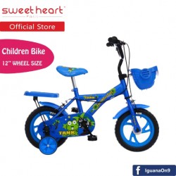Sweet Heart Paris CB1201 TANK Children Bicycle (New Design Blue) For Children Age 2 To 4 Years