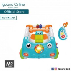 'Iguana Online 3 in 1 Discovery Car Walker with Stable Base Motor Training and Music(Blue)'