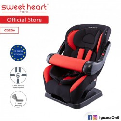 Sweet Heart Paris CS236 Adjustable Armrest Car Seat (Red)