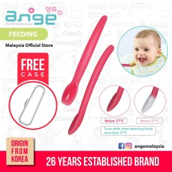 Korea Ange Heat Sensitive Feeding Spoon with Soft Sensory BPAFree Color Changing\''