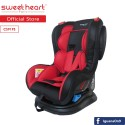 Sweet Heart Paris CS919S Group 012 Baby Car Seat Assurance JPJ Approved MIROS and ECE R44/04 Certified (Red)