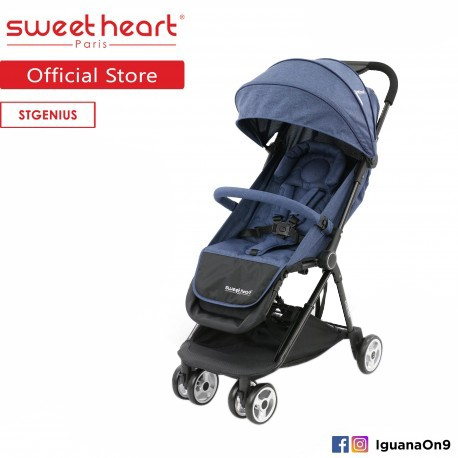 Sweet Heart Paris ST GENIUS Compact Fold Stroller with Aluminum Frame and Free Bag\''