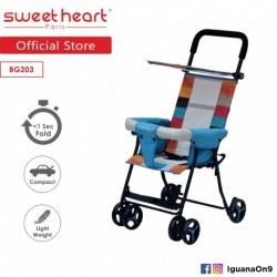 Sweet Heart Paris BG203 (Blue) One Second Folding Portable Baby Buggy Stroller\''