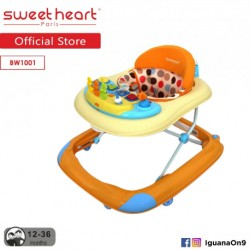 Sweet Heart Paris Baby Walker BW1001 (Orange) With Crystal Wheel