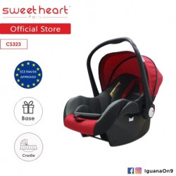 'Sweet Heart Paris CS323WB Baby Car Seat (Red Black) with Base'