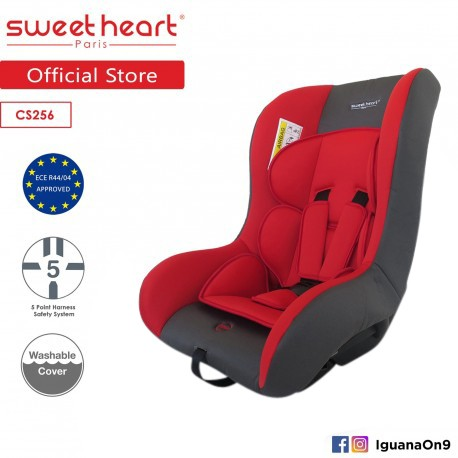 'Sweet Heart Paris CS256 Safety Car Seat (New Red) with Washable Covers'