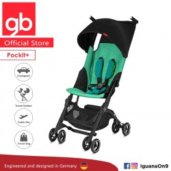 GERMANY gb Pockit Plus Stroller (LAGUNA BLUE) - World Lightweight Cabin Size Stroller with Reclining Seat