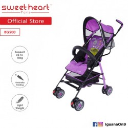 Sweet Heart Paris BG200 Umbrella Stroller Buggy (Purple) with Steel Frame and Back-Rest Reclining