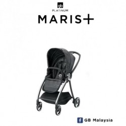 gb MARIS Plus (Lux Black) - LUXURIOS TRAVEL SYSTEM Stroller (gb Malaysia Official)