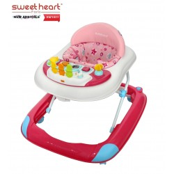 Sweet Heart Paris Baby Walker BW1001 (Pink) With Crystal Wheel