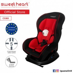 Sweet Heart Paris CS383 Car Seat (Red) with High Impact Material\''