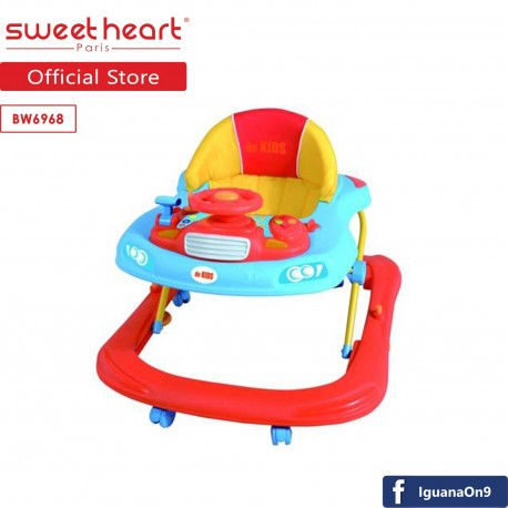 Sweet Heart Paris BW6968 Multi Position Baby Walker with Activity Tray Music with Steering Wheels (B