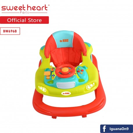 Sweet Heart Paris BW6968 Multi Position Baby Walker with Activity Tray Music with Steering Wheels (G