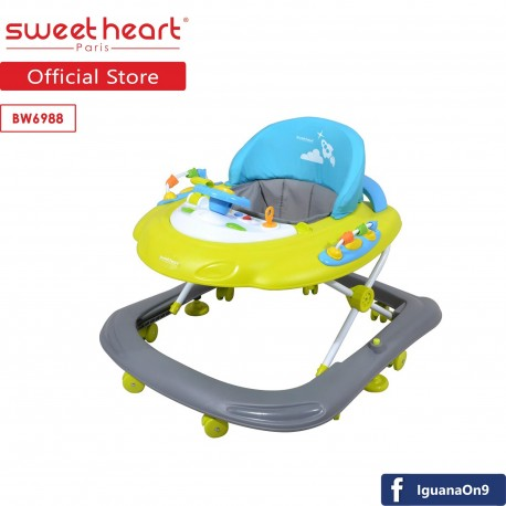 Sweet Heart Paris BW6988 Baby Walker Learn Moving with Activity Tray Music with Steering Wheels (Man