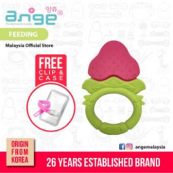 Korea Ange Strawberry Teething Ring with Soft BPA Free Silicone\''