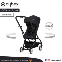 CYBEX GOLD EEZY S TWIST Stroller(Lavastone Black) With 360 Degree Rotation- Cybex Malaysia Official