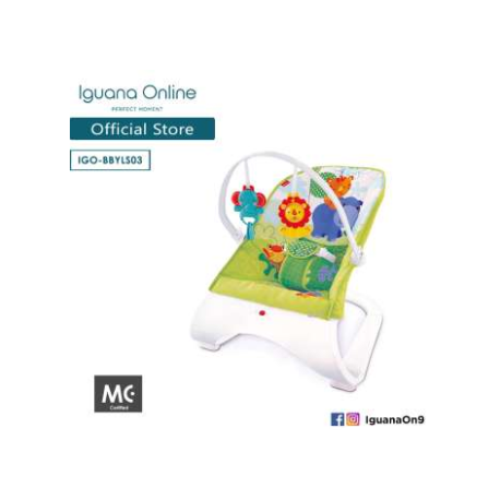 Iguana Baby Bouncer BBYLS03 with Music and Vibration