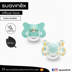 Suavinex BPA Free 18+ Months Fusion Anatomical Soother Pacifier Set (Teal Indian + Teal Feather)