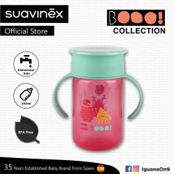 Suavinex Boo Collection BPA Free Non Spill Training Cup Bottle (Pink)
