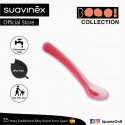 Suavinex Boo Collection BPA Free Soft and Flexible Spoon For Sensitive Gums (Pink)