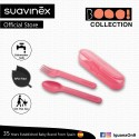 Suavinex Boo Collection BPA Free Travel Easy Outdoor Portable Cutlery Set Fork + Spoon With Case (Pi
