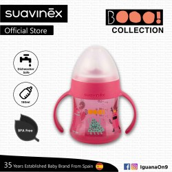 Suavinex Boo Collection BPA Free Non Spill Baby First Training Spout Bottle 150ml (Pink)