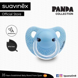 Suavinex Panda Collection BPA Free 0 - 6 Months Anatomical Soother Pacifier (Blue Leaf)