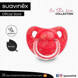 Suavinex In The Sea Collection BPA Free 6 - 18 Months Anatomical Soother Pacifier (Red Sea)