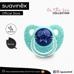 Suavinex In The Sea Collection BPA Free 6 - 18 Months Anatomical Soother Pacifier (Teal Sea Star)