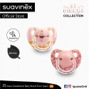 Suavinex Circus Collection BPA Free 6 - 18 Months Anatomical Soother Pacifier Set (Pink Ballerina +