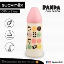 Suavinex Panda Collection BPA Free 360ml Wide Neck Baby Feeding Bottle with Anatomical Teat (Pink Pa