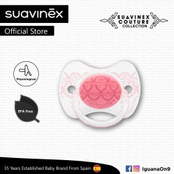 Suavinex Couture Collection BPA Free 0 - 4 Months Physiological Soother Pacifier (Pink)
