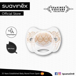 Suavinex Couture Collection BPA Free 4 - 18 Months Physiological Soother Pacifier (Grey)