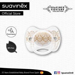 Suavinex Couture Collection BPA Free 18+ Months Physiological Soother Pacifier (Grey)
