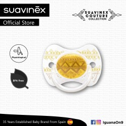 Suavinex Couture Collection BPA Free 18+ Months Physiological Soother Pacifier (Yellow)