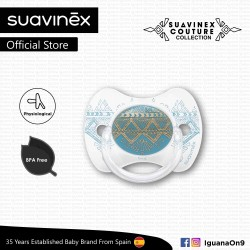 Suavinex Couture Collection BPA Free 18+ Months Physiological Soother Pacifier (Light Blue)