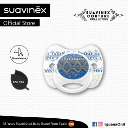 Suavinex Couture Collection BPA Free 18+ Months Physiological Soother Pacifier (Dark Blue)