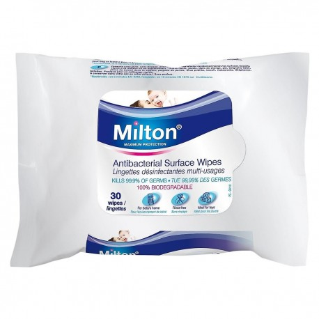MILTON Antibacterial Surface Wipes (30 Wipes)