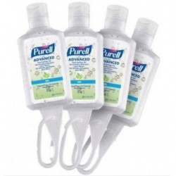 PURELL Advanced Instant Hand Sanitizer with Jelly Wrap (1 fl oz) - Pack of 4