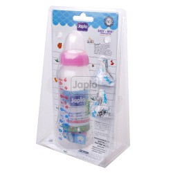Japlo Easy Grip 250Ml Feeding Bottle Pink (E25)- With Two Silicone Nipple