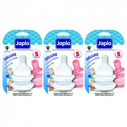 Japlo Deluxe Teat S  - 2 pcs x 3 Blister Cards (3 Blister Cards in 1)