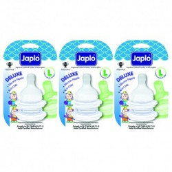 Japlo Deluxe Teat L  - 2 pcs x 3 Blister Cards (3 Blister Cards in 1)