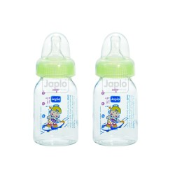 Japlo Round Feeding Bottle 120ml (Twin Pack)