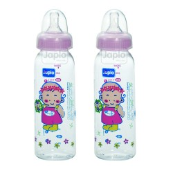 Japlo Round Feeding Bottle 240ml (Twin Pack)