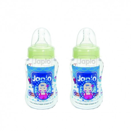 Japlo Streamlined Feeding Bottle 140ml (Twin Pack)