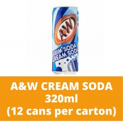 JG A and W Cream Soda 320ml (12 cans per carton)