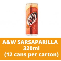 JG A and W Sarsaparilla 320ml (12 cans per carton)
